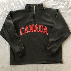 Misty Mountain Vintage Half Zip Canada Sweatshirt size M